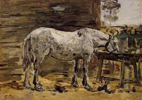 White Horse at the Feeding Trough 1885 1890